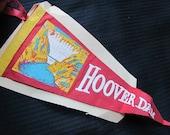 Vintage Felt Pennant Banner - Hoover Dam