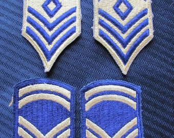 Lot of 4 Military Rank Uniform Patches