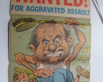 Vintage WANTED Poster - Father 10 x 18