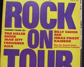 Vintage Circus Magazine June 30, 1982 Rock On Tour Edition
