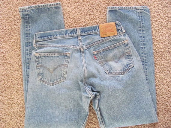 Great Pair of Old Faded Levis 501xx Jeans - 36 x 36