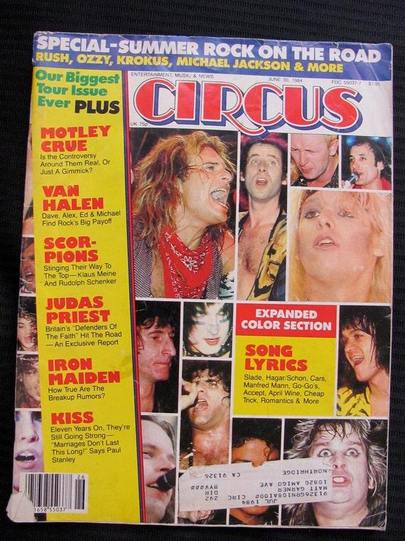 Vintage Circus Magazine June 30, 1984 Summer Rock