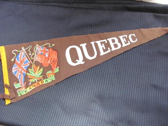 Vintage Felt Pennant Banner - Canada Quebec