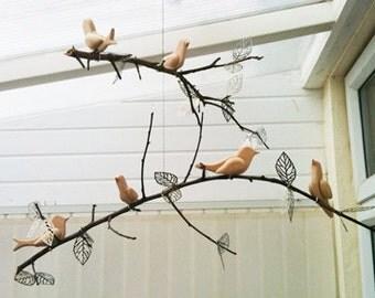 NURSERY MOBILE - Songbird Ornament SUPPLIES - Set of 5: Bluebird - Chickadee - Goldfinch - Cardinal - Hummingbird - Wedding - Nursery