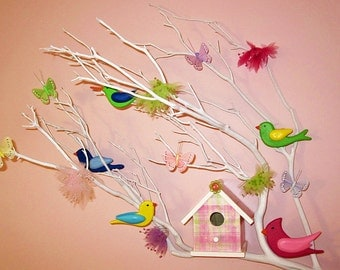 5 SONGBIRDS SUPPLIES - DIY - Christmas Ornament - Wedding Cake Topper - Mobile - Cardinal - Chickadee -  Bluebird - Hummingbird -  Goldfinch