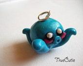 Cutie Blue Octopus Pendant