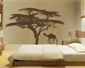 Vinyl Wall Decal - Camel and Tree XXL (matte) - Wall Sticker