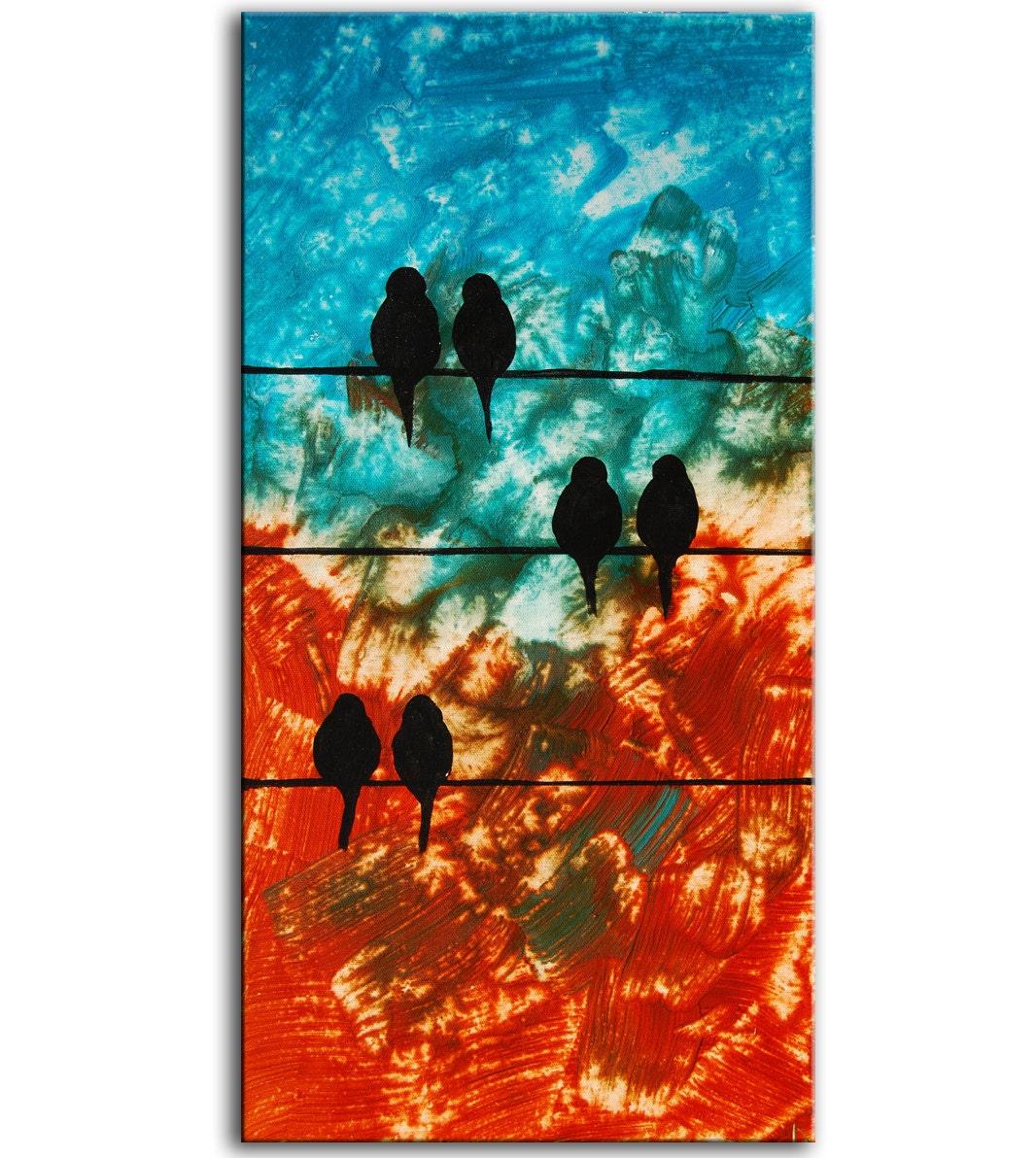 Bird paintings modern - photo#17