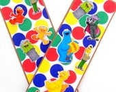 Paper Bookmarks- Sesame Street 3D: Set of 2- approx. 2 1/2 x  7 inches