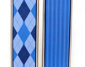 CLEARANCE-Male: Paper Bookmarks Set of 2- approx. 2 x 7 1/2 inches