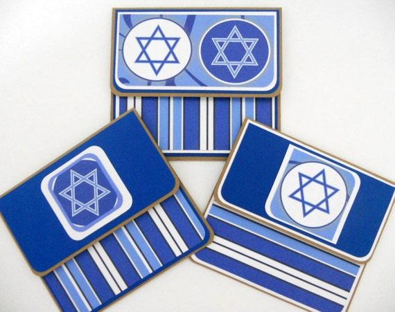 Hanukkah Gift Card Holders Set of 3