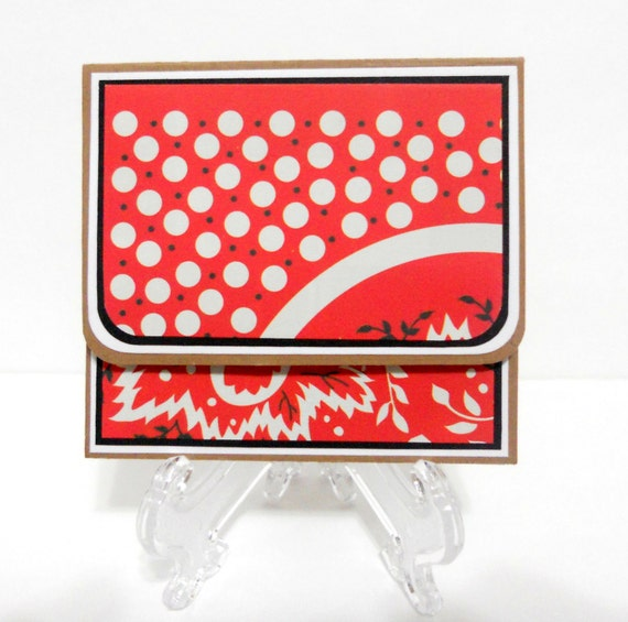 CLEARANCE-Red Bandana Post It Holder