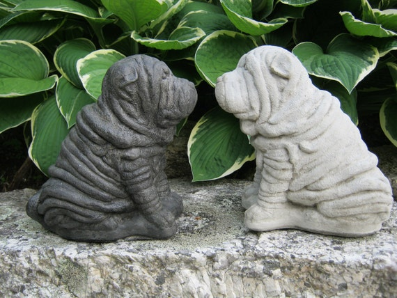 Shar Pei Dog Statue Concrete Dog Statues Pet By