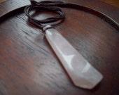 Rose quartz stone adjustable necklace pendant