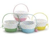 Easter Basket made of wood and fabric liner with free personalization