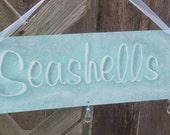 RESERVED for Jemez100 Shabby Seashells Chic Beach Cottage Sign