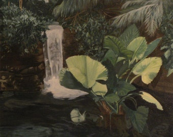Garden In The Zoo (oil painting)