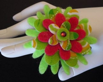 Cameron          (Funky Felt Flowers Cocktail Ring)