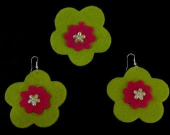 The Pimento Collection (Funky Felt Flowers)