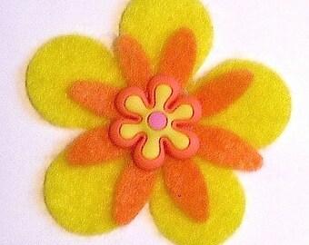 Interchangeable Small Funky Felt Flowers