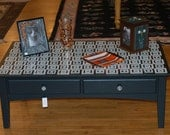 "Black and ""White Squares"" Coffee Table"