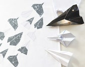 Aerodynamic. Origami, Paper Planes, Constellation Tshirt, Men/Unisex in White, Organic Cotton Tee