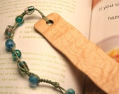 Hand made wooden bookmark for saving your place in your cookbook of curly Maple