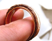 Twisted Spinner Ring, Worry Ring, Spin Ring