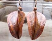 Copper Leaf Earrings