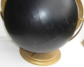 Vintage Globe Chalkboard: Upcycled vintage globe turned into a chalkboard, great for home office, kids, organization or fun