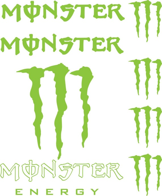 monster energy vinyl decals car window sticker by craftmaniacs. Black Bedroom Furniture Sets. Home Design Ideas