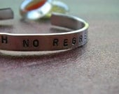 Choose With No Regret Silver Hand Stamped Bracelet
