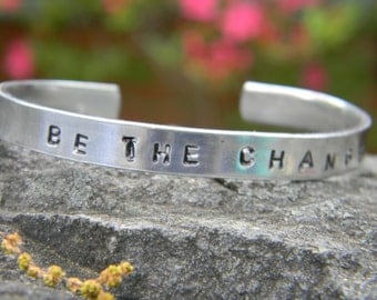 Be The Change, wonderful and simple silver bangle