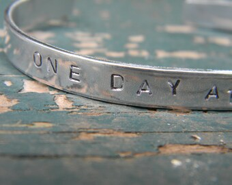 One Day At A Time.  Silver Bangle