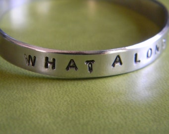 What a long strange trip it's been.  Classic lyrics on afun hand stamped bracelet