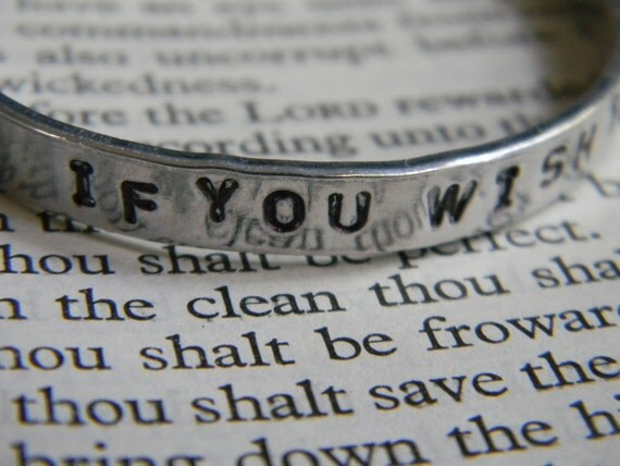 If You Wish To Be A Writer, Write. So simple, so perfect for a writer, silver unisex bracelet