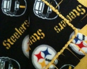 Pittsburgh Steelers fleece  Baby blanket - original knotted edge