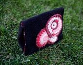"EZorange ""Berry Sorbet Night"" beaded freeform crochet decorated clutch - Original design - OOAK"