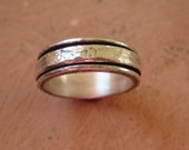 Reserved for Heidi and Brian--Spin Ring in Sterling Silver