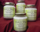 8oz Coconut Handmade Soy Candle