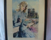 Paris French Lady Notre Dame Cathedral Wall Hanging