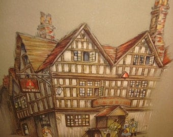 Wall Hanging Old Towne Signed Art
