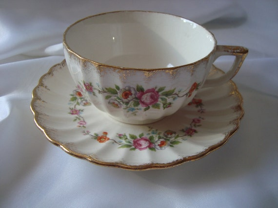 Service For Four Tea Cup Saucer Plate China Table Top Setting Dishes Tea Set Table Setting