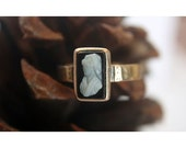 14K Cameo Ring- Antique Cameo Ring 100 Year Old Antique