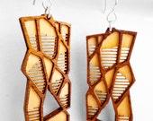 Organic Wood Earrings made in San Francisco, CA