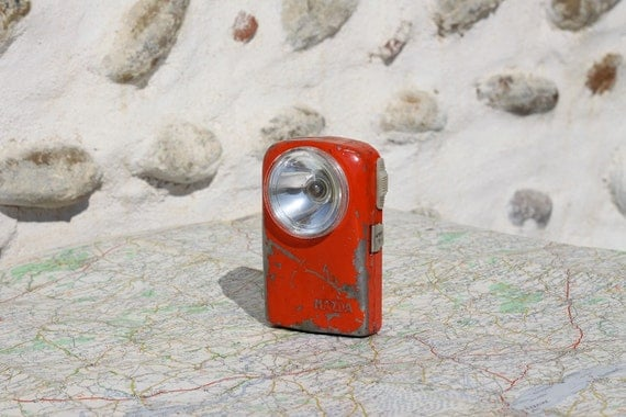 Vintage French  Bike Light Midcentury 50s