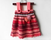 Knitted Girl Tunic Dress - Pink, 9 - 12 months