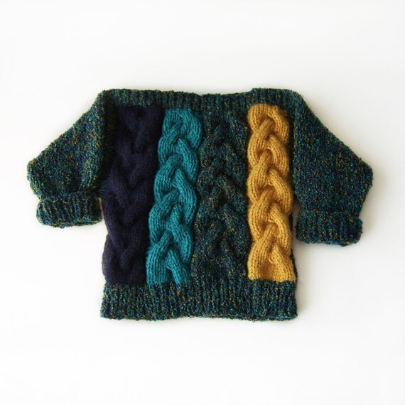 Hand Knitted Baby Sweater - Multicolor, 1.5 - 2.5 years