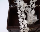 Ivory Flower Lace - One Yard