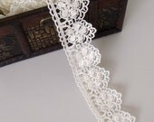 Ivory Flower Lace-2 - Two (2) Yard